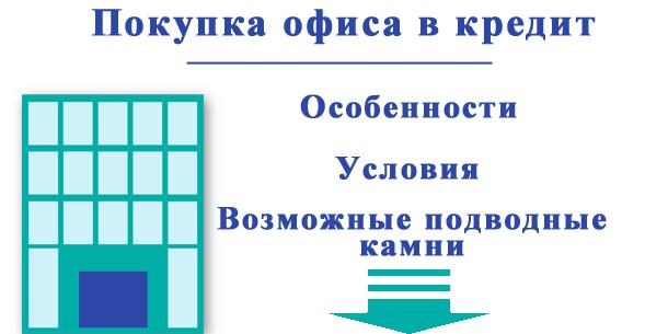 Покупка нежилого помещения или офиса в кредит